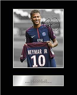 Neymar Jr Signed Mounted Photo Display Paris Saint-Germain FC