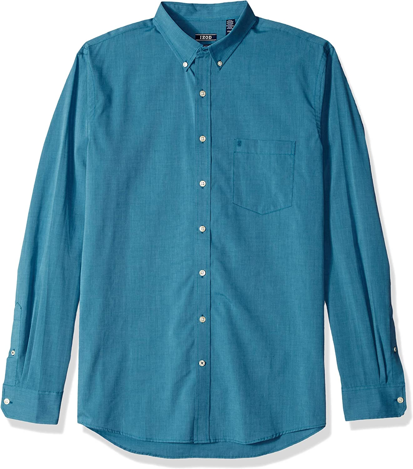 IZOD Men's Big and Tall Slim Fit Button Down Long Sleeve Stretch Performance Solid Shirt