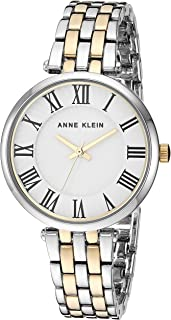 Anne Klein Women's AK/3322 Roman Numeral Metal Bracelet Watch
