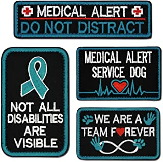 Tphon Service Dog Patch in Training Embroidered Patches for Vest Harness Backpack K9 Morale Badge Hook & Loop Outdoor Tact...