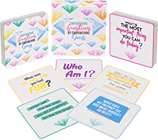 Empowering Gems Question Cards - 60 Mindfulness Cards to Help with Self Care, Therapy, Counseling and Meditation - an Amazing Tool Used by Therapists, Teachers and Parents.
