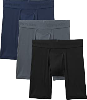 Men's Second Skin Boxer Briefs - 3 Pack - No Ride-Up...
