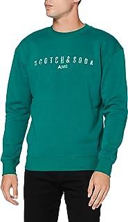 Scotch & Soda Men's Classic Logo Artwork Felpa Crewneck Sweat Sweater