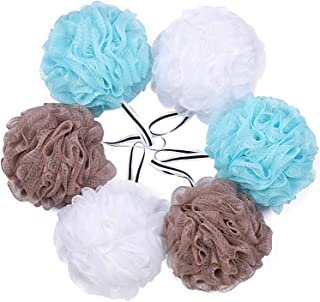 Bath Loofah Shower Sponge Pouf Body Scrubber Exfoliator Scrubber ball (Set of 6)