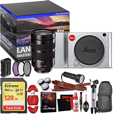$5694 Get Leica TL2 Mirrorless Digital Camera (Silver) - Master Landscape Photographer Kit - Memory Card - Accessories with Leica SL 24-90mm f/2.8-4 ASPH. Lens (11176)