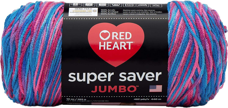 Red Heart Super Saver Jumbo Yarn, Bonbon Print