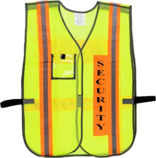 Security Safety Vest with Reflective Strips, One Size Fits All (1-pc, Neon Lime)