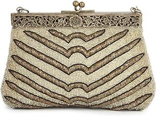 MyBatua Taylor Braut Vintage Wedding Handtasche Funkelnde Vintage-Handtasche ACP-083