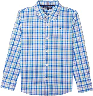 Tommy Hilfiger Plaid Embroidered Chest Logo Long Sleeves Shirt for Boys