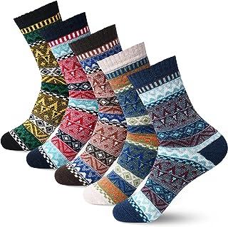 Sponsored Ad - Women Winter Socks Warm Womens Socks Thick Wool Socks Gift Socks Warm for Women Vintage Casual Crew Socks 5...