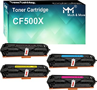 Compatible (4-Pack, High Yield, K+C+M+Y) CF501X CF502X CF503X 202X Toner Cartridge CF500X Used for HP Laserjet Pro M254DW ...