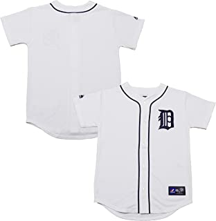 Detroit Tigers Word Mark Blank White Youth Authentic Home Replica Jersey