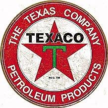 テキサコレトロシリーズ・ラウンド(円形)・PETROLEUM PRODUCTSガソリン系・TEXACOアメリカンブリキ看板