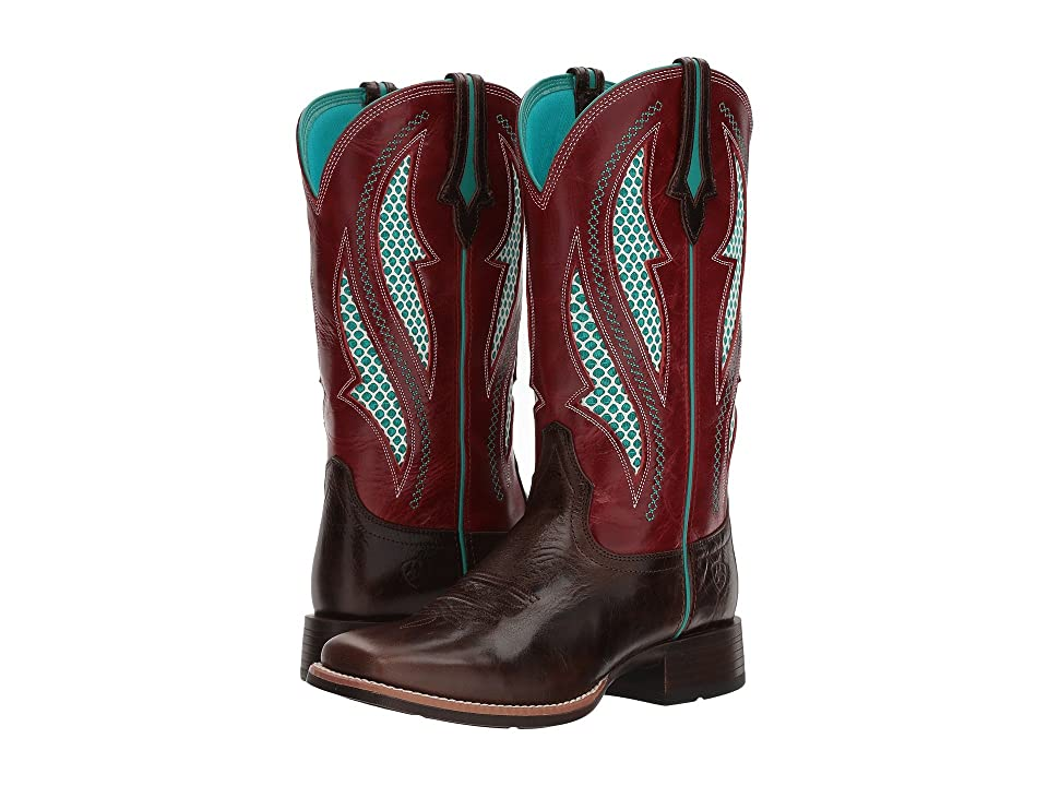 Ariat Venttek Ultra (Chocolate Chip/Rooster Red) Cowboy Boots