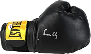 Muhammad Ali Cassius Clay Autographed Black Everlast Boxing Glove - PSA/DNA Certified - Autographed Boxing Gloves