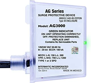 Intermatic AG3000 120/240 VAC Universal HVAC Surge Protective Device, Color