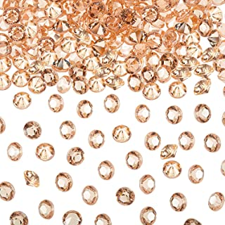 eBoot 5000 Diamond Confetti Table Scatter Crystals Acrylic Diamonds for Table Centerpiece Decorations Wedding Decorations (Rose Gold, 6 mm)