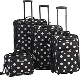 Luggage Dots 4 Piece Luggage Set, Black Dots, One Size