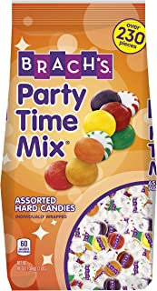 Brach's Party Time Assorted Hard Candy Mix, 3 Pound Bulk Candy Bag Bulk Candy Individually Wrapped