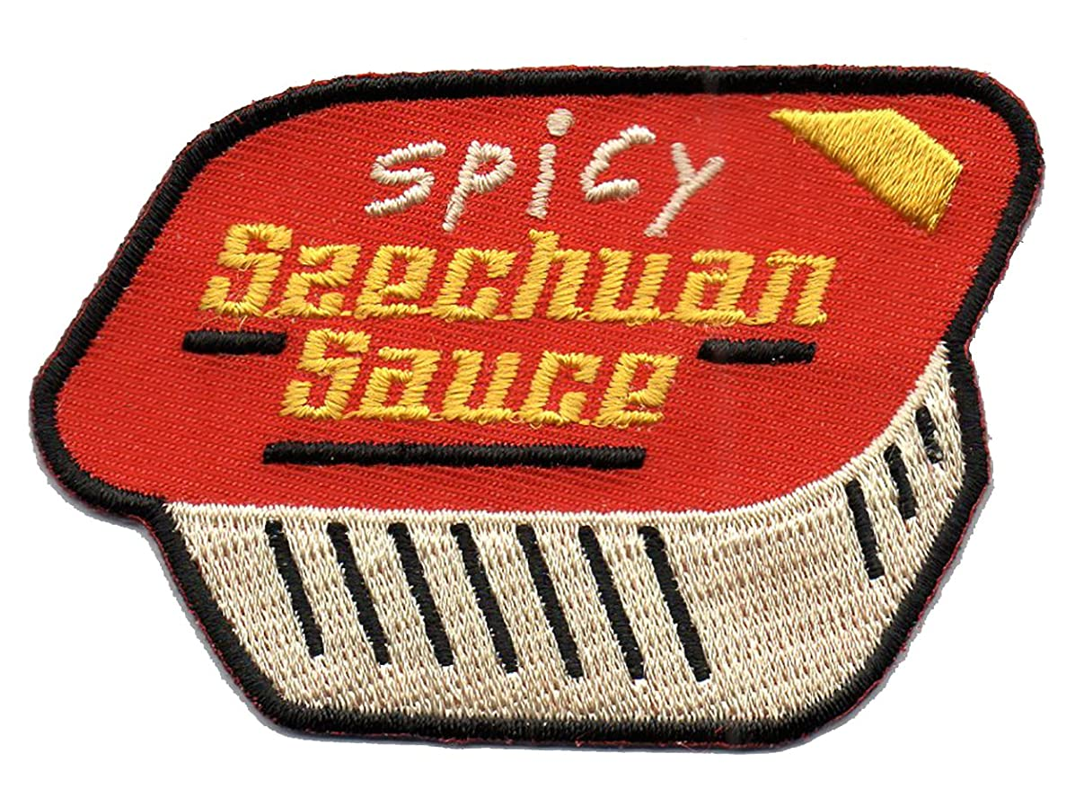 Spicy Szechuan Sauce Cartoon TV Show Parody - Embroidered Iron On Applique Patch