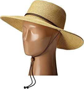 e6bb68ff1f8d9 UBM4453 4 Inch Brim Sun Hat with Twisted Adjustable Chin Cord