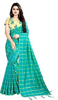 BerMondsey Women's Handloom Silk Saree With Blouse Piece