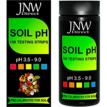 JNW Direct Soil pH Test Strips - 150 Strip MEGA Pack, Best Kit for Accurate Soil Testing at Home, pH 3.5-9.0, Free App & Ebook Included, is Your Soil Acidic, Optimal or Alkaline