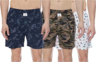 Longies Mens 100% Cotton Boxers ( Pack of 3 )