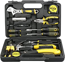 DOWELL 14 Pieces Homeowner Tool Set, Home Repair Hand Tool Kit with Plastic Tool box Storage Case