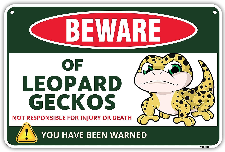 Venicor Leopard Gecko 5 ☆ popular Columbus Mall Sign - 8x12 Ge Aluminum Inches