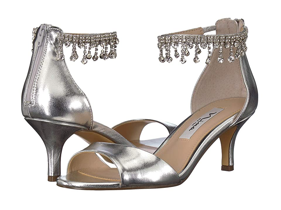 Nina Chianne (Silver Smooth Metallic) High Heels