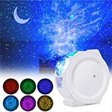 LED Night Light Projector, ALED LIGHT 3 in 1 Star Projector Light Decorative Ceiling Moon and Water Wave Children's Night ...
