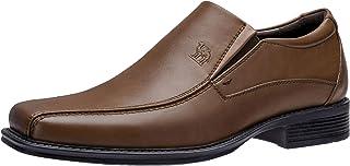 Men's Oxford Shoes Classic Uniform Slip on Dress Shoes Formal Business Shoes Square Toe Wedding Oxfords for Men