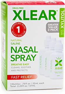 Xlear Saline Nasal Spray with Xylitol - 0.75 oz - 3 ct