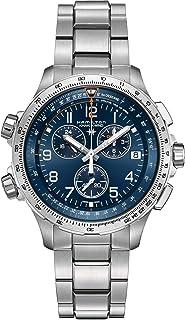 Hamilton - Reloj Hamilton Khaki X-Wind GMT Chrono Cuarzo Brazalete Acero H77922141