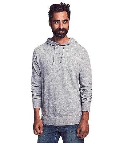 Faherty Slub Cotton Hoodie (Grey) Men