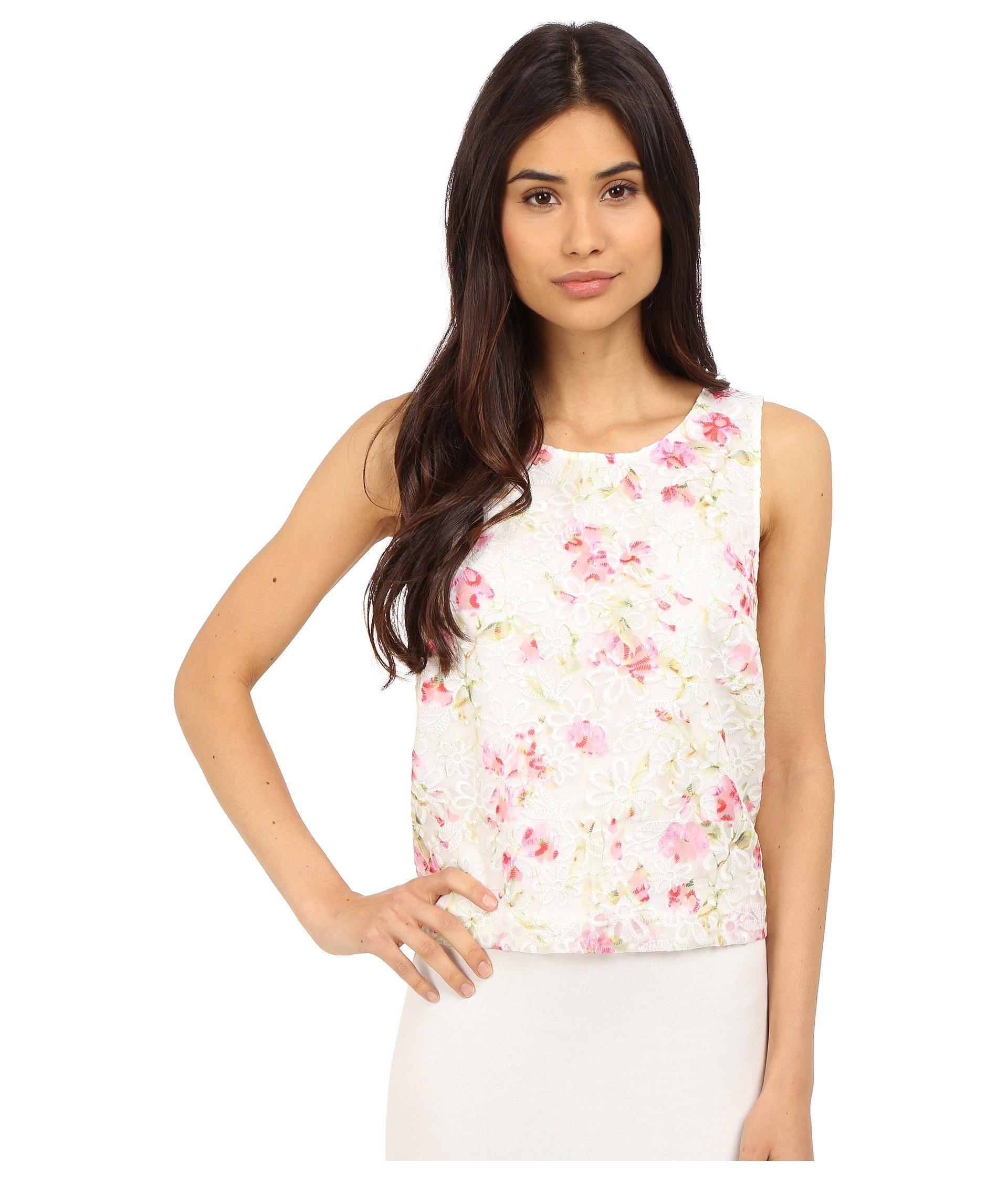 Blusa para Mujer kensie Floral Organza Top KS5K4294  + kensie en VeoyCompro.net