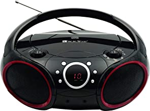 SINGING WOOD Portable CD Player AM FM Analog Tuning Radio with Aux Line in, Headphone..