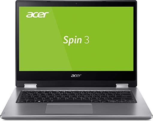 Acer Spin SP314-53N-33MJ Laptop 14 Zoll Multi-Touch FHD mit IPS Intel Core i3-8145U GB DDR4 RAM 128 GB PCIe SSD Intel UHD Graphics 620 Windows 10 Home im Modus Silber Schätzpreis : 604,90 €