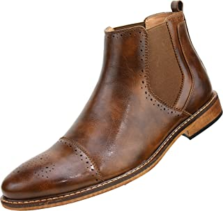 The Original Men's Cap Toe Slip On Demi Boot with Double Gore Eslastic and Perforated Details, Style Pablo