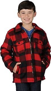 OSCAR DE LA RENTA 男孩拉链法兰绒加厚羊绒衬里羊毛衫儿童款小号 - XL 码