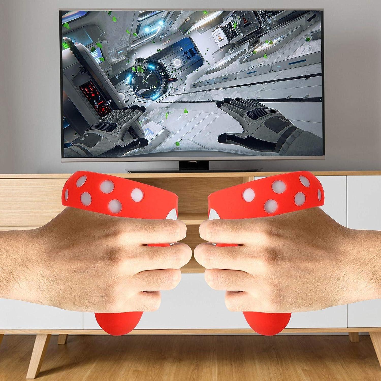Poign/ée en Silicone AR Anti-Projection Peau De Silicone pour Oculus Quest 2 /Étui De Protection VR laiyin Couvercle De La Poign/ée du Contr/ôleur Housse De Protection pour Oculus Quest 2 VR