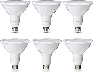 AmazonBasics Commercial Grade LED Light Bulb | 90-Watt Equivalent, PAR38, Cool White, Dimmable, 6-Pack