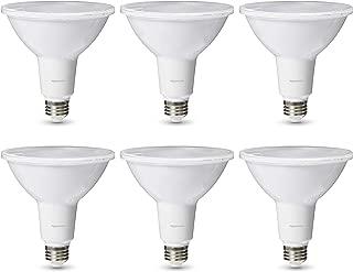 AmazonBasics Commercial Grade LED Light Bulb   120-Watt Equivale, PAR38, Soft White, Dimmable, 6-Pack