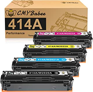 CMYBabee Compatible Toner Cartridge Replacement for HP 414A W2020A 414X for HP Color Laserjet Pro MFP M479fdw M479fdn M454...