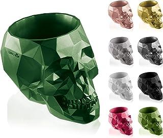 concrette Flower Pot, Green Metallic, Ø 24-48.6x34.1x32.3 cm