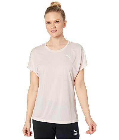 PUMA Active Mesh Heather Tee (Rosewater Heather) Women