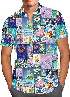 Fantasyland Disney Inspired Mens Button Down Short Sleeve Shirt