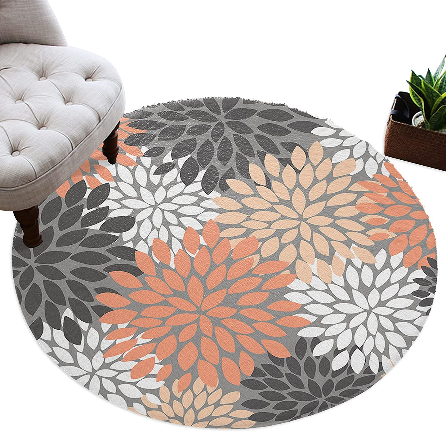 Meet 1998 Round Area Rug Same day shipping Soft Don't miss the campaign Floormat Throw Circle Dahlia Rugs