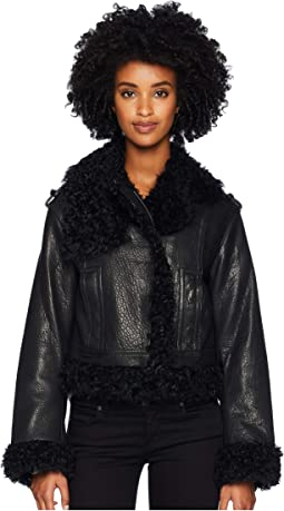 Leather Shearling Moto Jacket